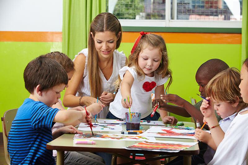 Friends Day Nursery Saintfield Crossgar Teacher and Children